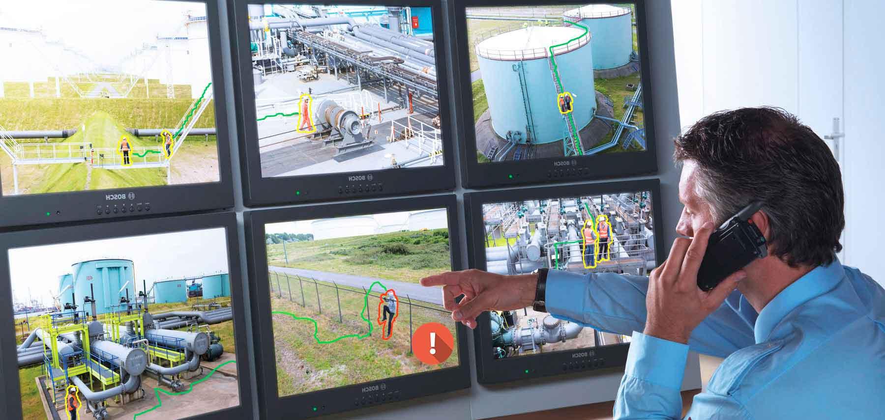 Kameraovervåking med overføring til alarmstasjon